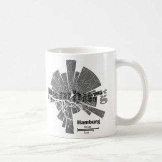 Caneca De Café Mapa de Hamburgo