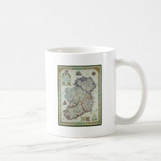 Caneca De Café Mapa de Ireland - mapa histórico de Eire Erin do