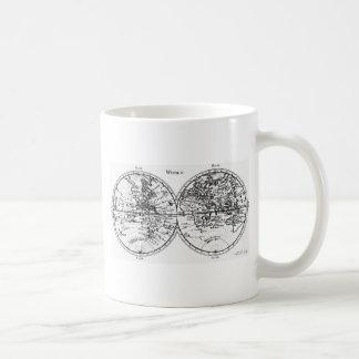Caneca De Café Mapa de Velho Mundo
