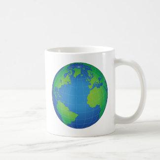 Caneca De Café Mapa do globo do mundo