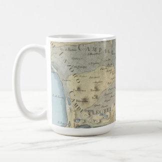 Caneca De Café Mapa do golfo de Nápoles e de arredores