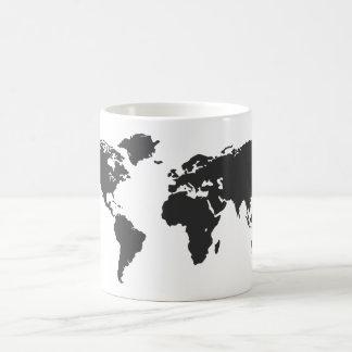 Caneca De Café Mapa do mundo