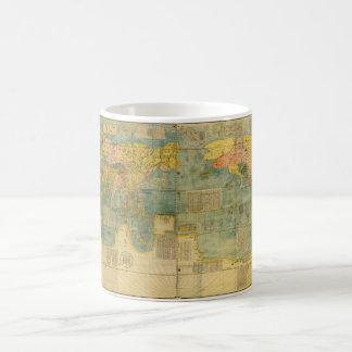 Caneca De Café Mapa do mundo do japonês de Kunyu Wanguo Quantu