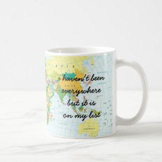 Caneca De Café Mapa do mundo - eu não estive em toda parte…