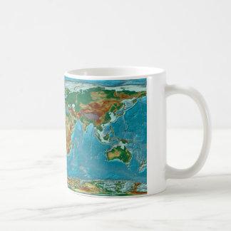 Caneca De Café Mapa do mundo geográfico