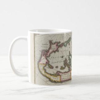 Caneca De Café Mapa do vintage de Bermuda (1638)