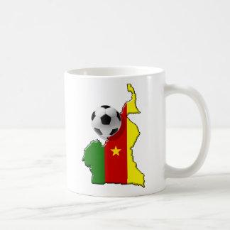 Caneca De Café Mapa dos presentes da bola de futebol de República
