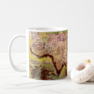 Caneca De Café Mapa indiano pictórico do território de Oklahoma