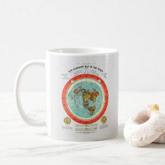 Caneca De Café Mapa padrão novo da terra lisa Earther do mundo