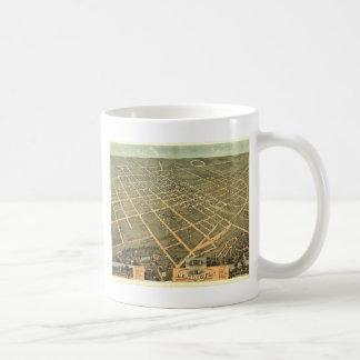 Caneca De Café Mapa panorâmico antigo de Lexington KY 1871