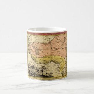 Caneca De Café Mapa velho de África ocidental cerca de 1743