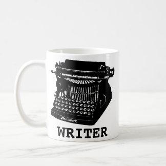 Caneca De Café Máquina de escrever antiga do escritor