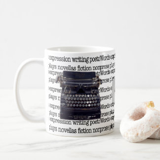 Caneca De Café Máquina de escrever do vintage