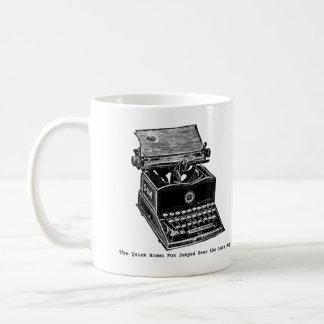 Caneca De Café Máquina de escrever, o Fox rápido de Brown…