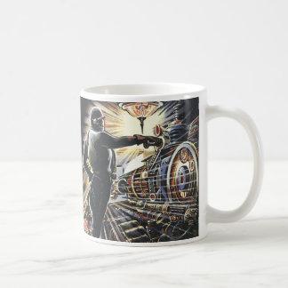 Caneca De Café Máquinas futuristas de Sci Fi da ficção científica