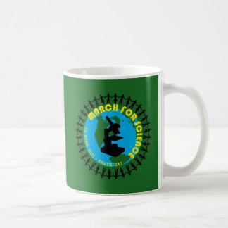 Caneca De Café Março para a ciência - Dia da Terra - 22 de abril