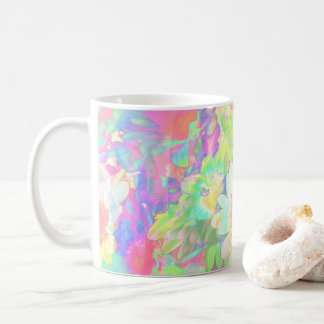 Caneca De Café Margaridas coloridas brilhantes alegres das flores