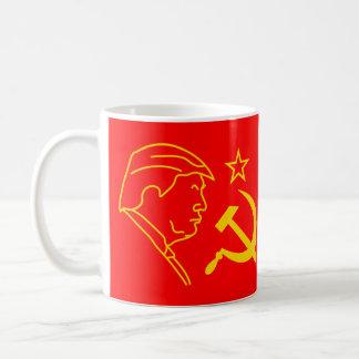 Caneca De Café Martelo e foice engraçados do perfil de Donald