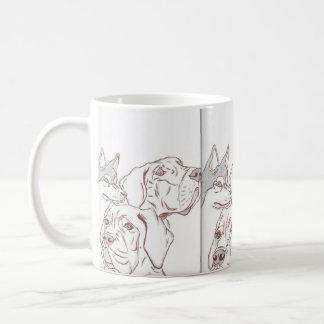 Caneca De Café Mastiff ronco Mugg do bebê de great dane