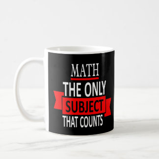 Caneca De Café Matemática. O único assunto que conta. Piada da
