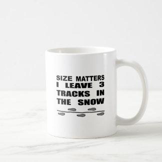 Caneca De Café Matérias do tamanho eu deixo 3 trilhas na neve
