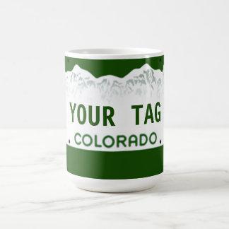 Caneca De Café Matrícula feita sob encomenda de Colorado