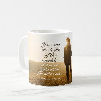 Caneca De Café Matthew 5 14-16 você é a luz do mundo