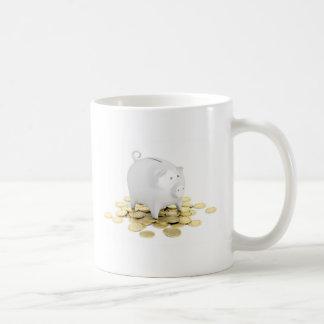 Caneca De Café Mealheiro e moedas