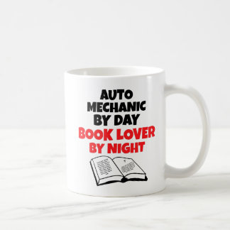 Caneca De Café Mecânico de amante de livro auto