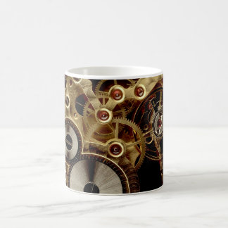 Caneca De Café Mecanismo antigo do relógio