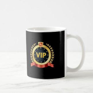 Caneca De Café Medalhão elegante do ouro do VIP