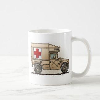 Caneca De Café Médico militar de Hummer da ambulância