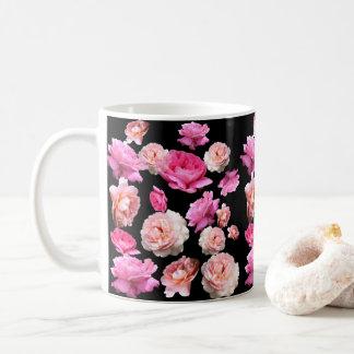Caneca De Café Meia-noite romance cor-de-rosa glamoroso chique da