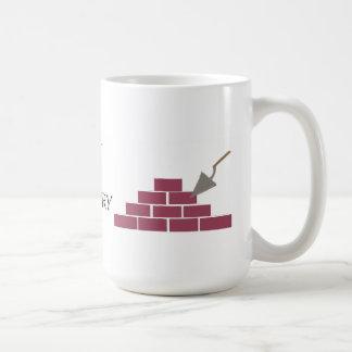 Caneca De Café Melhor na colocação da alvenaria e do tijolo