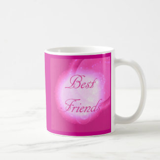 """Caneca De Café """"Melhores amigos"""" no rosa quente"""