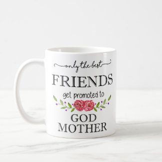 Caneca De Café Melhores amigos promovidos à mãe do deus
