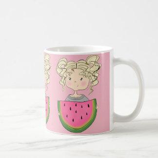 Caneca De Café Menina com melancia