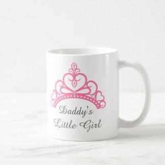 Caneca De Café Menina do pai, princesa cor-de-rosa chique Tiara