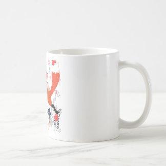 Caneca De Café Menina e raposa vermelhas da equitação da capa no
