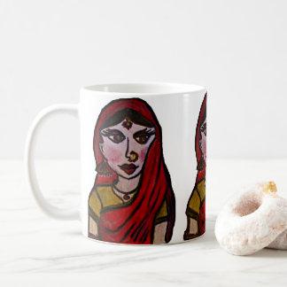 Caneca De Café Menina indiana