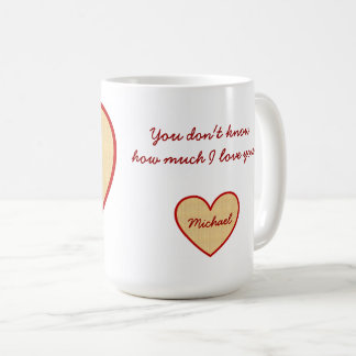 Caneca De Café Mensagem do amor dos namorados do namorada do