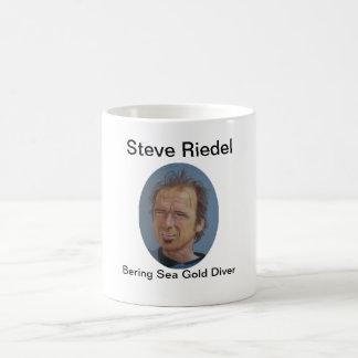 Caneca De Café Mergulhador do ouro do mar de Steve Riedel-Bering