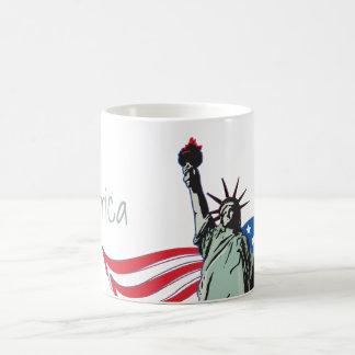 Caneca De Café 'Merica e estátua da liberdade