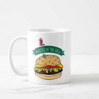 Caneca De Café Mestre do hamburguer do CHURRASCO da grade