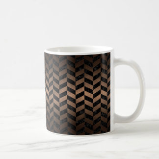 CANECA DE CAFÉ METAL PRETO DO MÁRMORE CHEVRON1 & DO BRONZE
