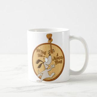 Caneca De Café Meu cão tem… Um coração Uke da pulga de Jumpin