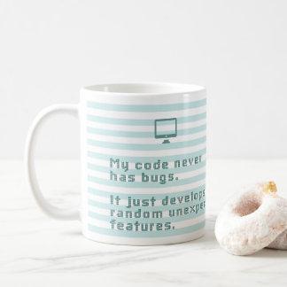 Caneca De Café Meu código nunca tem insetos. Apenas torna-se…