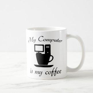 Caneca De Café Meu computador é meu café