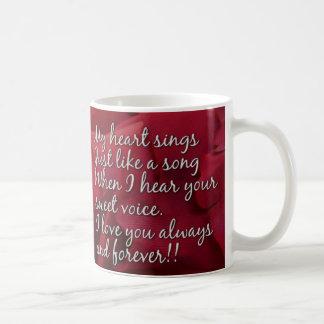 Caneca De Café Meu coração canta