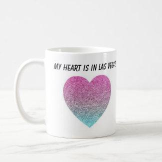 Caneca De Café Meu coração está em Las Vegas